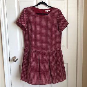 Madewell Drop Waist Peplum Dress